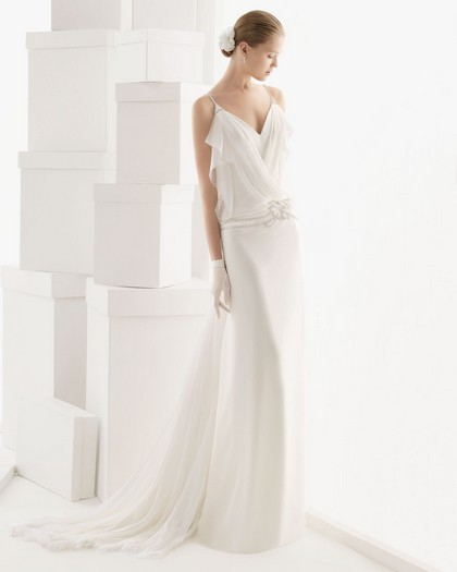 Прямые свадебные платья ампир 2014 фото