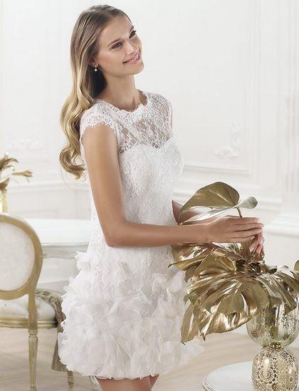 Короткое платье свадебное 2014 с полупышной юбкой