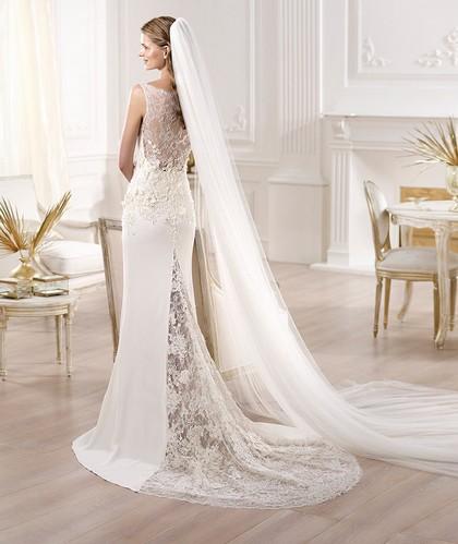 Свадебное платье Проновиас 2014 со шлейфом