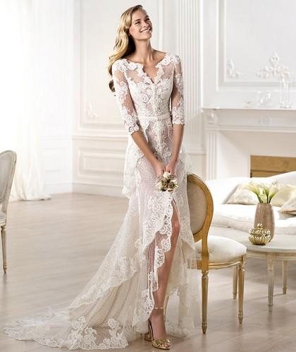 Свадебные кружевные платья Проновиас 2014