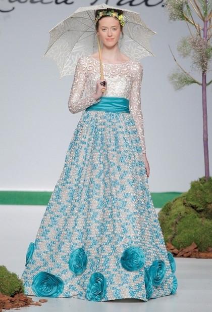 Свадебные платья в узор 2014 Carla Ruiz