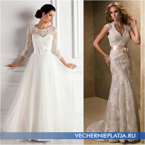 Свадебные платья для девушек с маленькой грудью