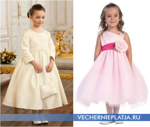 Нежные свадебные платья для девочек фото