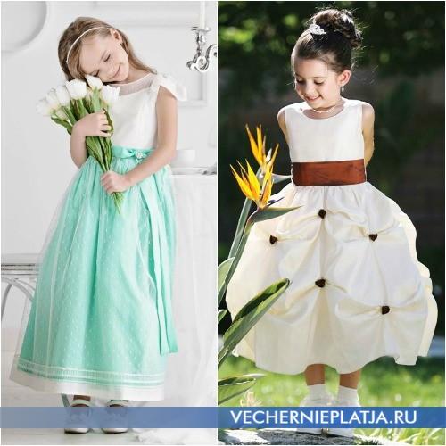 Красивые платья на свадьбу для девочек фото