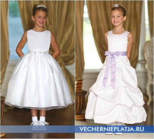 Белые платья для девочек на свадьбу