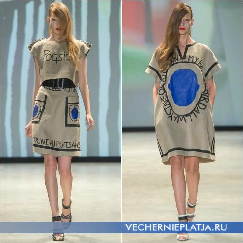 Платья с оригинальными надписями