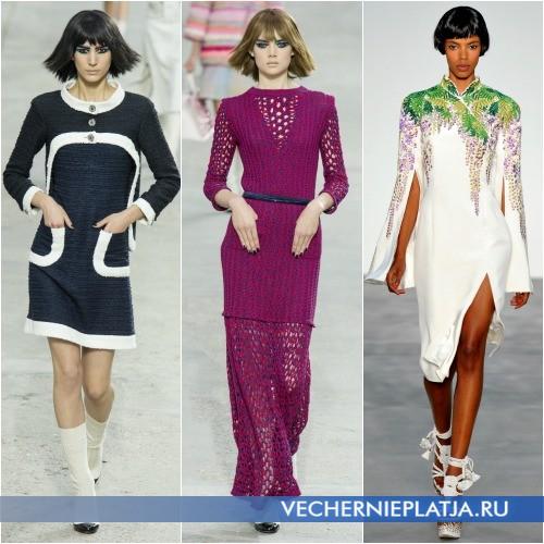 Трикотажные платья для весны 2014 года