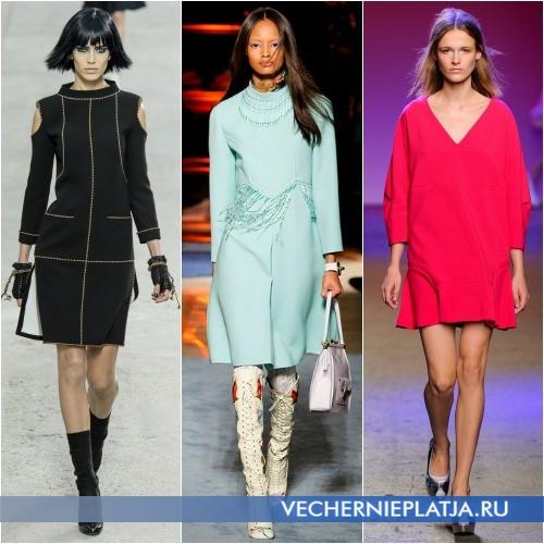 Модные платья весна 2014 из трикотажа фото