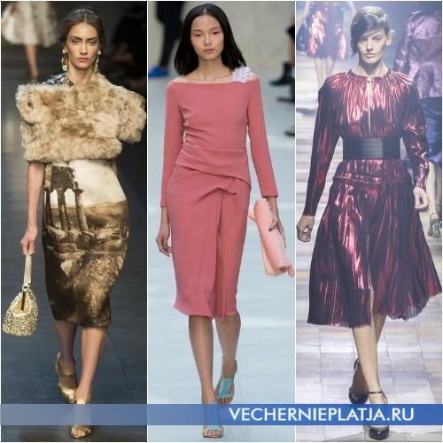 Весенние платья 2014 длины миди