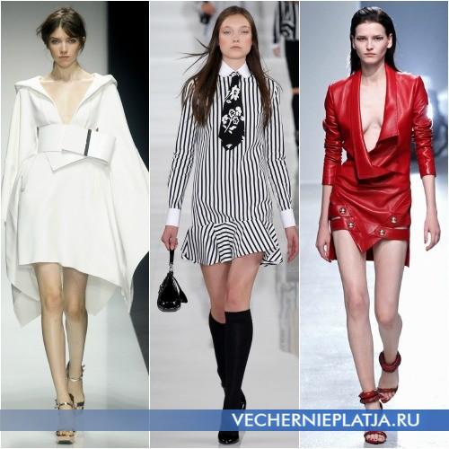 Модные асимметричные платья весна 2014 фото