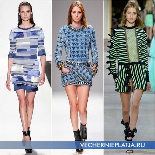 Модный декор весенних платьев 2014