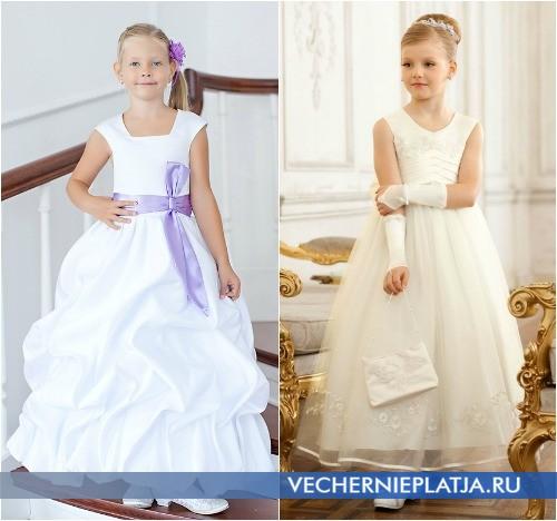 Белые детские платья на Новый год фото