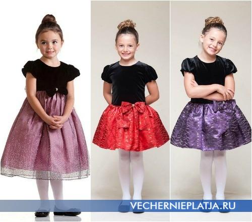 Новогодние блестящие платья для девочек фото