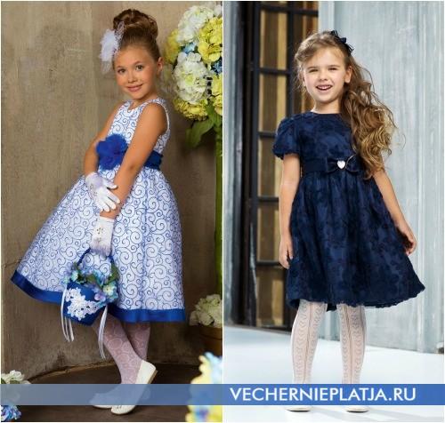 Синие платья для девочек на Новый год 2014 фото