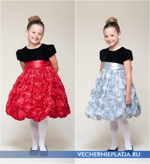 Элегантные платья для девочек новогодние