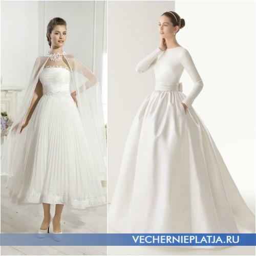 Скромный фасон платьев для венчания фото