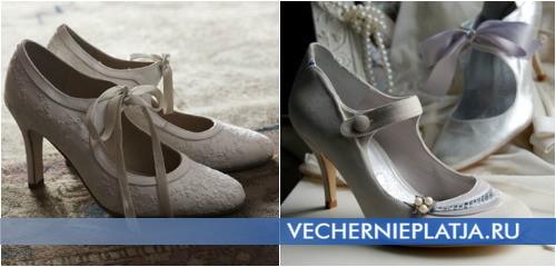 Туфли к платью для венчания фото