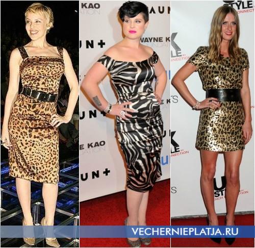 Знаменитости в платьях с животным принтом фото