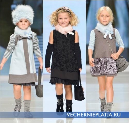 Модели теплых платьев для девочек фото