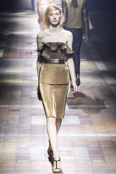 Платье Lanvin 2014 цвета жидкого металла