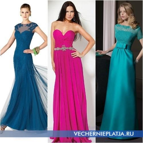 Яркие выпускные платья 2014 фото