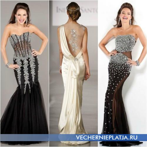Платья с ажурными вставками на выпускной 2014 фото
