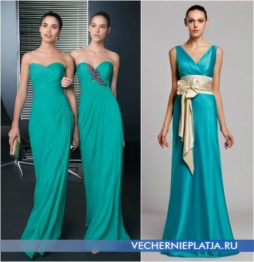 Длинные выпускные шелковые платья 2014 фото