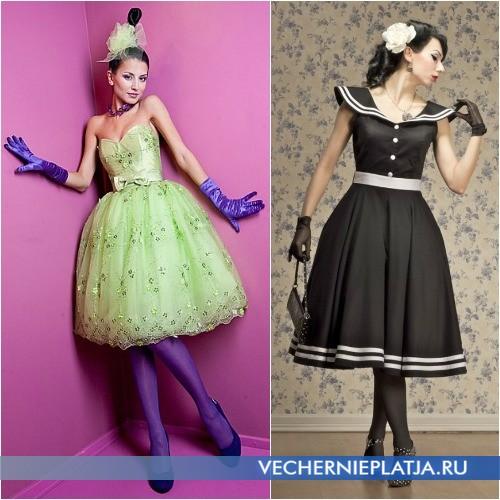 Модные ретро-платья для выпускного бала 2014 фото