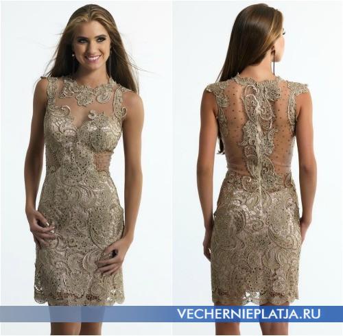 Короткие платья на выпускной 2014 с элементами прозрачности
