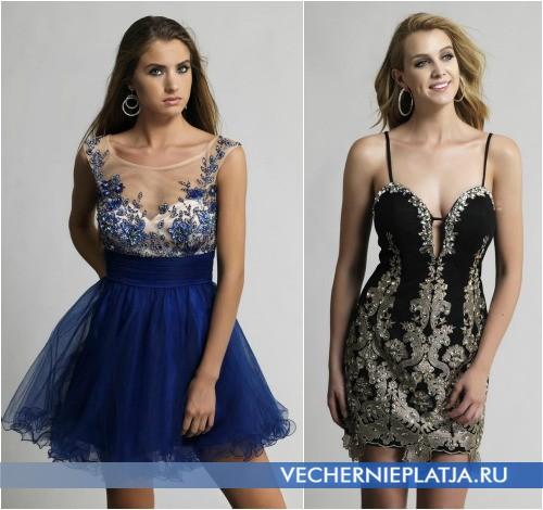 Самые красивые короткие платья на выпускной вечер 2014 фото