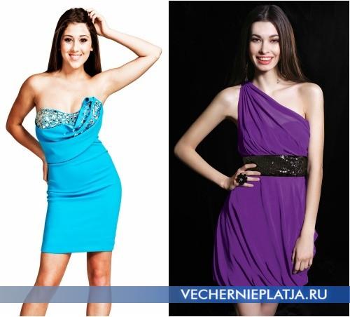 Оригинальный крой платьев на выпускной 2014 фото