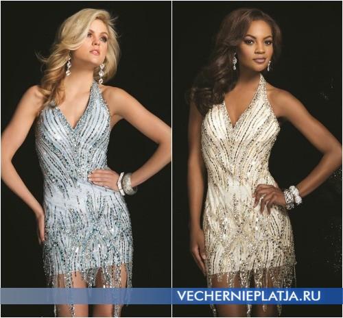 Элегантные короткие выпускные платья 2014 фото