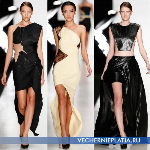 Модные платья с вырезом спереди