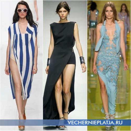 Роскошные модели платьев с вырезами фото