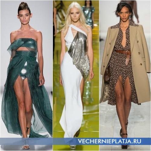Платья с вырезами и без дополнительных украшений