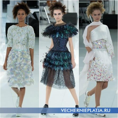 Платья с необычными паетками фото