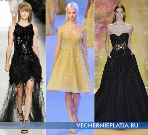 Как расшить платье паетками