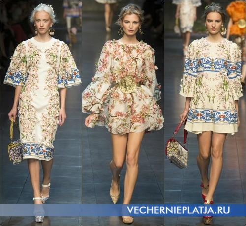 Цветочные аппликации для платьев из коллекции Dolce & Gabbana
