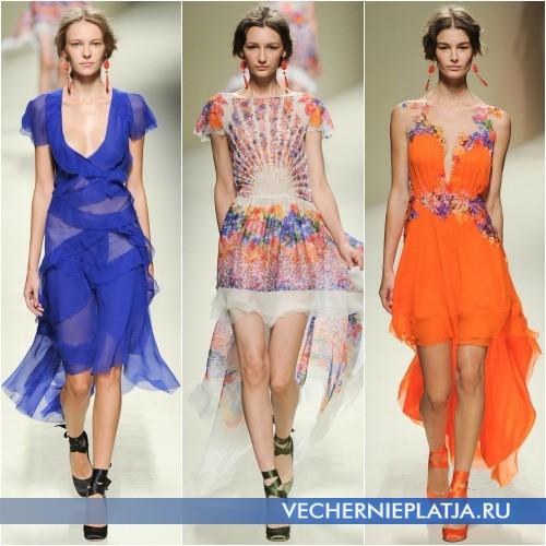 Платье с асимметричной юбкой фото