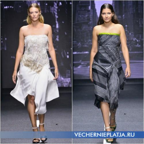 Асимметричные платья для полных
