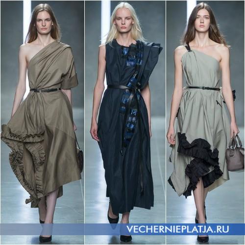 Платья-миди 2014 асимметричного кроя