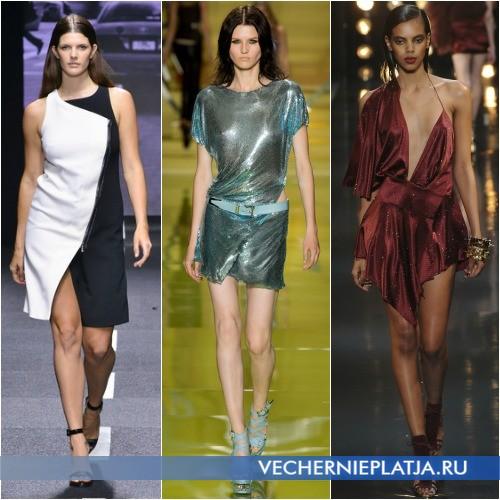 Современные модели платья с запахом