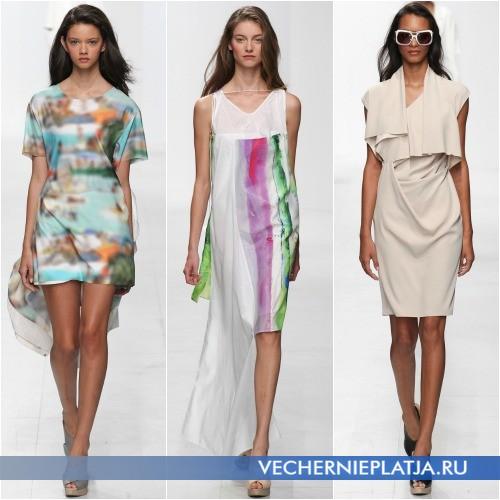 Модные многослойные платья лето 2014 фото