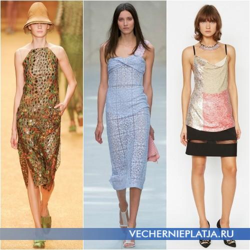 Фасоны летних платьев 2014 с открытыми плечами
