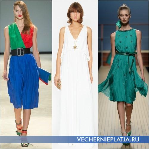 Красивые летние платья фото 2014 расцветки