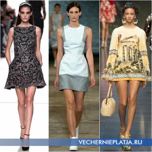 Модные расцветки и принты платья-трапеции