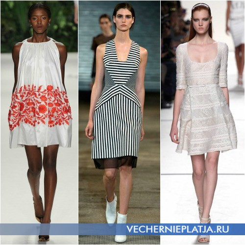 Платье-трапеция с чем носить