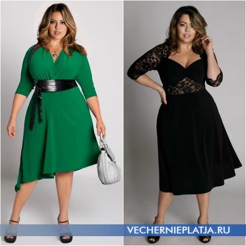 Платья-миди А-типа для полных и высоких девушек