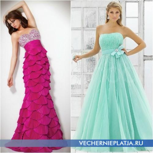 Длинные роскошные платья с завышенной талией
