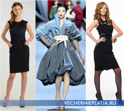 Модели платьев с завышенной талией фото